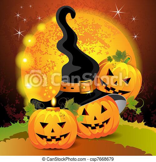 Halloween pumpkin - csp7668679