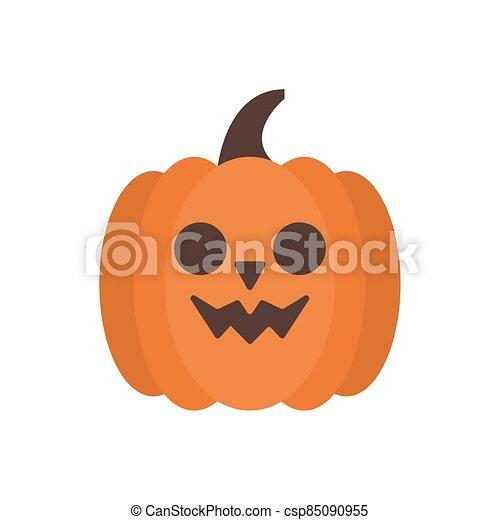 halloween pumpkin face flat style - csp85090955
