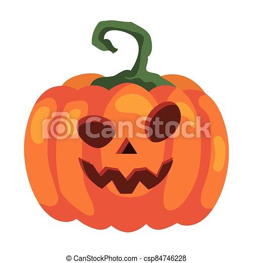 halloween pumpkin icon, in white background - csp84746228