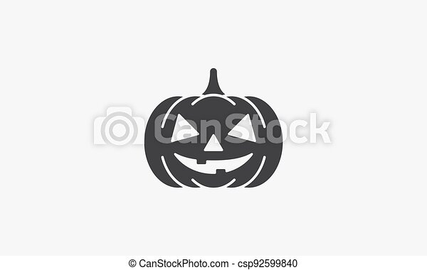 halloween pumpkin icon. isolated on white background. - csp92599840