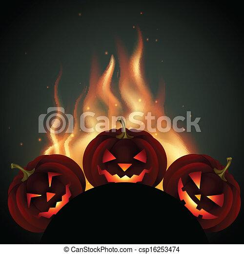 halloween pumpkin - csp16253474