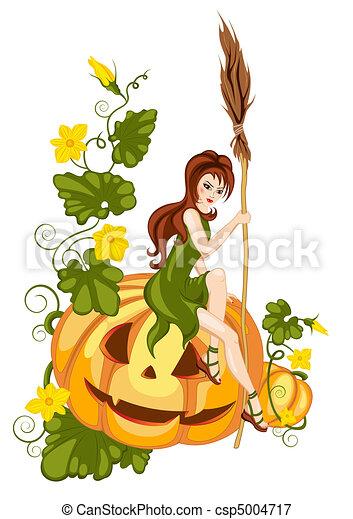 halloween pumpkin - csp5004717