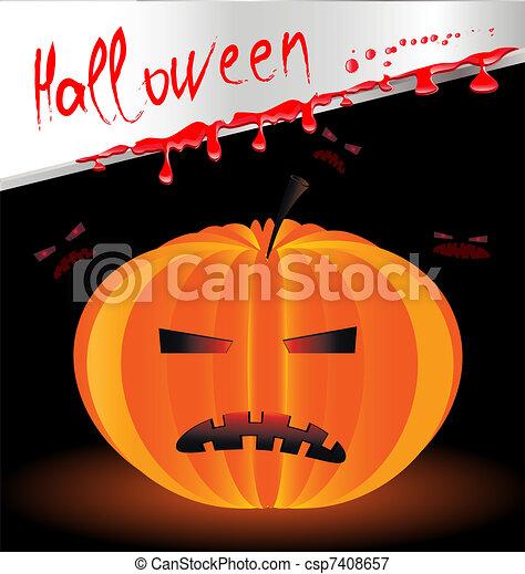 Halloween pumpkin - csp7408657
