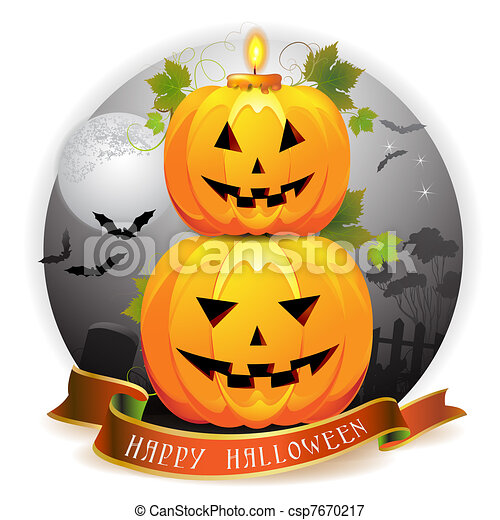 Halloween pumpkin  - csp7670217