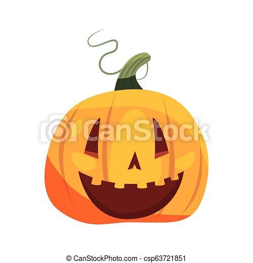 halloween pumpkin on white background - csp63721851