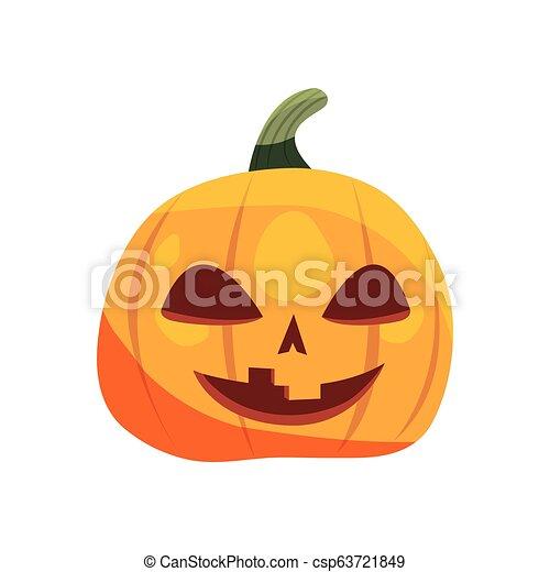 halloween pumpkin on white background - csp63721849