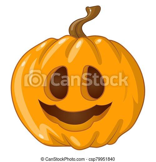 halloween pumpkin on white background - csp79951840