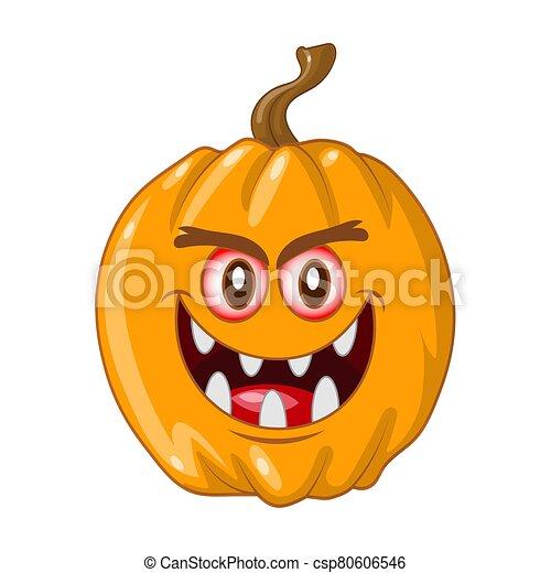 halloween pumpkin on white background - csp80606546