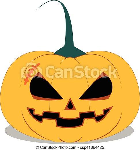 Halloween Pumpkin on white background - csp41064425