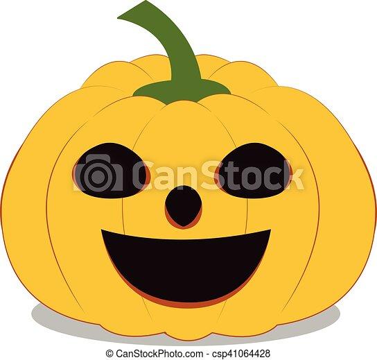 Halloween Pumpkin on white background - csp41064428