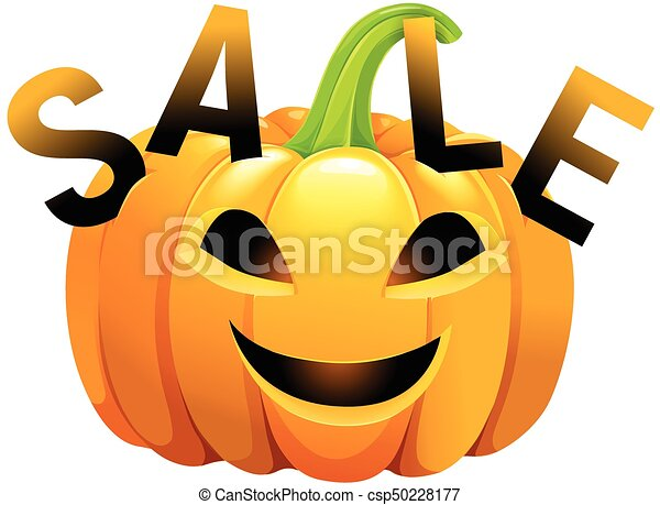 Halloween pumpkin sale - csp50228177