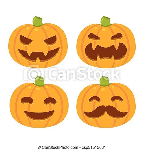 halloween pumpkin set vector halloween pumpkin illustration set