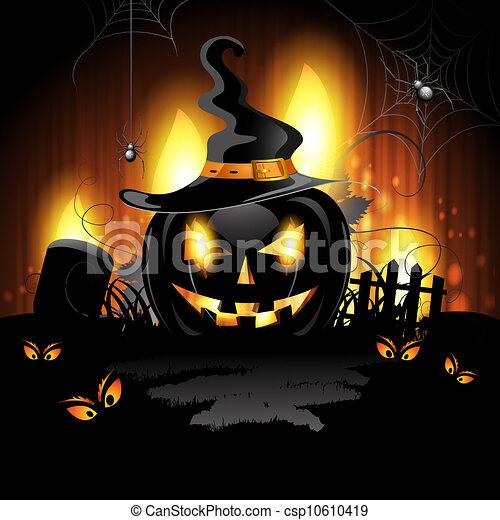 Halloween pumpkin - csp10610419