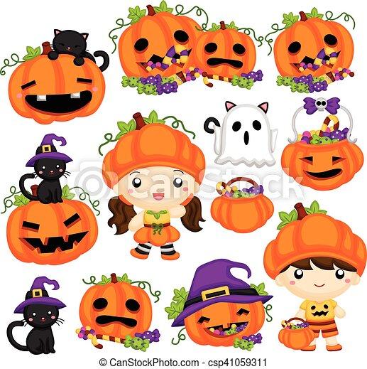 Halloween Pumpkin - csp41059311