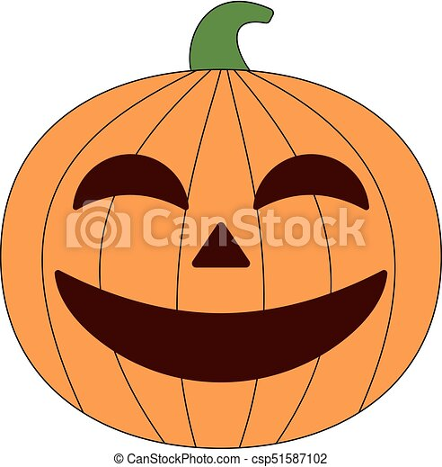 Halloween Pumpkin Vector Art.Halloween Pumpkin