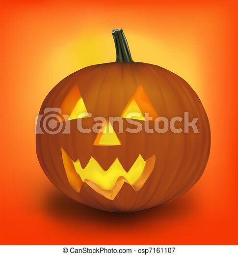 Halloween pumpkin. Vector.  - csp7161107