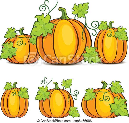 pumpkin drawing with leaves. halloween pumpkins - csp6466986 pumpkin drawing with leaves m