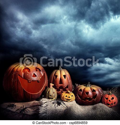 Halloween pumpkins  - csp6894859