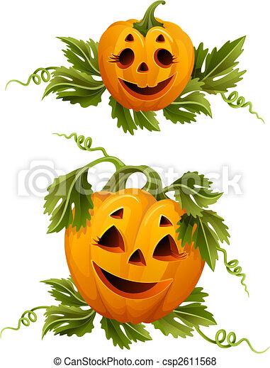 halloween pumpkins - csp2611568