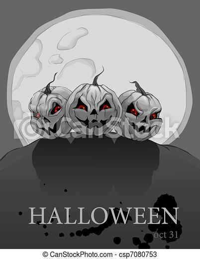 Halloween pumpkins - csp7080753