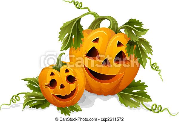 halloween pumpkins - csp2611572