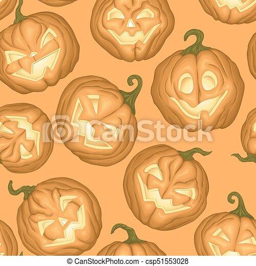 Halloween pumpkins pattern - csp51553028