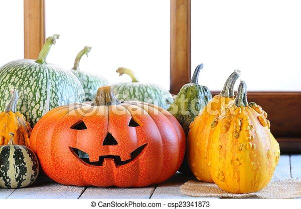 Halloween pumpkins. - csp23341873