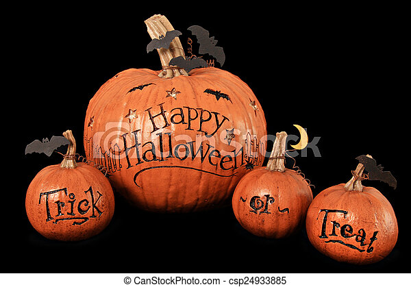 Halloween pumpkins - csp24933885