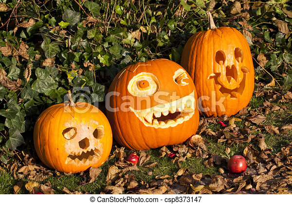 halloween pumpkins - csp8373147