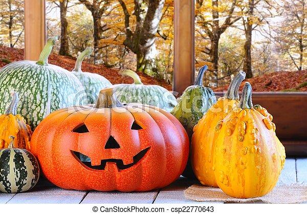 Halloween pumpkins. - csp22770643