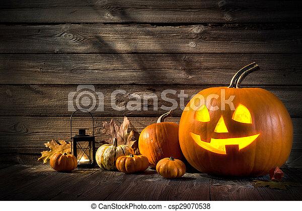 Halloween Pumpkins - csp29070538