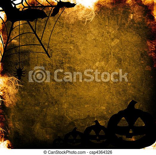 Halloween pumpkins with pumpkin friends - csp4364326