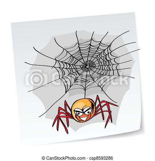 halloween, ragno - csp8593286