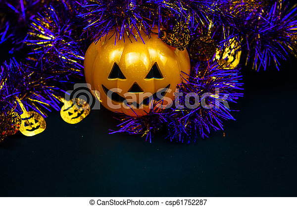 Halloween, calabazas - csp61752287