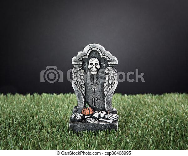 Halloween RIP tombstone - csp30408995