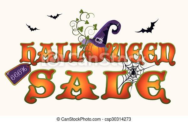 Halloween Sale Text Banner - Download Free Vectors, Clipart Graphics &  Vector Art