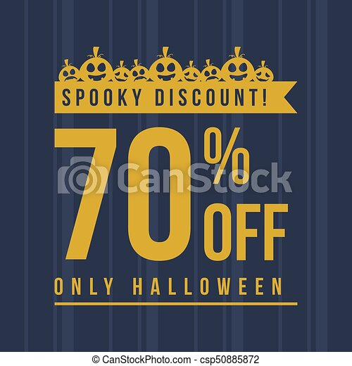 Halloween sale with pumpkin background - csp50885872