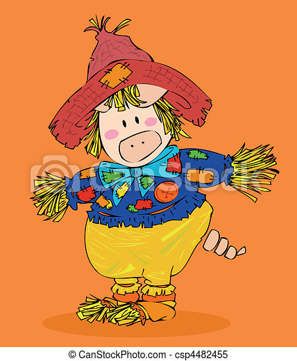 Halloween scarecrow. clipart vector - Search Illustration ...