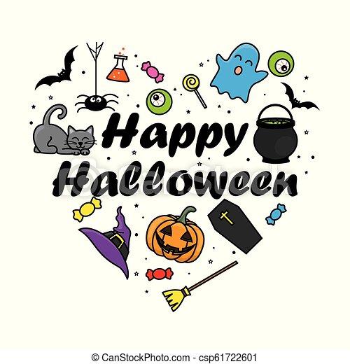 halloween, scheda, felice - csp61722601