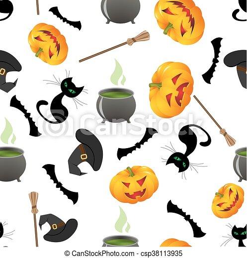 halloween seamless background - csp38113935