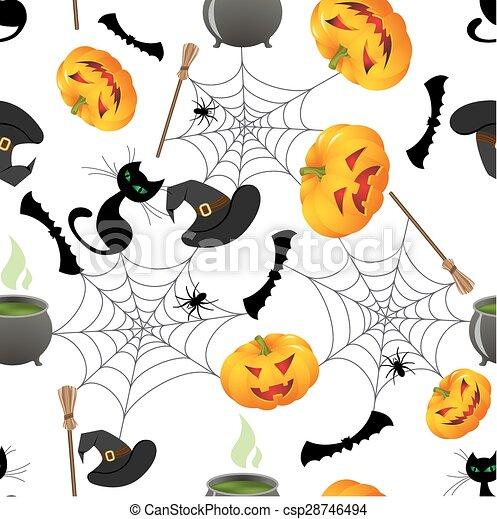 halloween seamless  - csp28746494