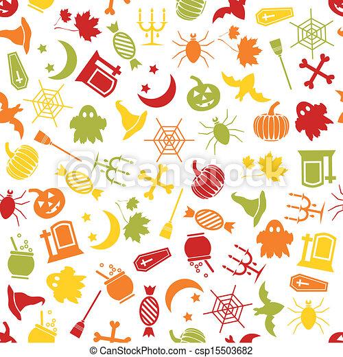 halloween seamless pattern - csp15503682