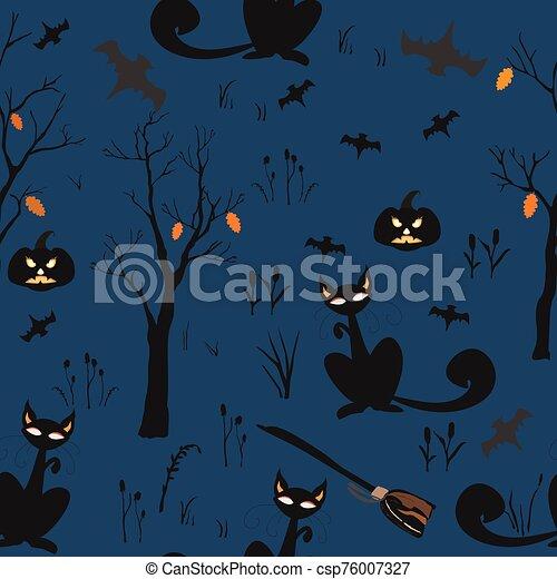 halloween, set., vector, ilustración, elemento - csp76007327