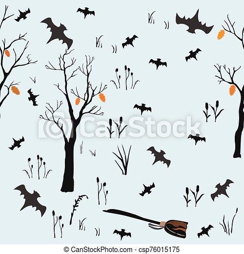 halloween, set., vector, ilustración, elemento - csp76015175