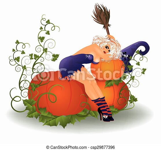 Sexy halloween clip art, japanese girl characters