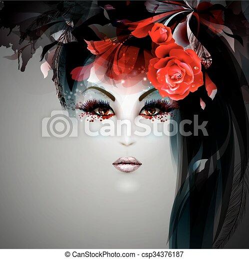 halloween, signora - csp34376187