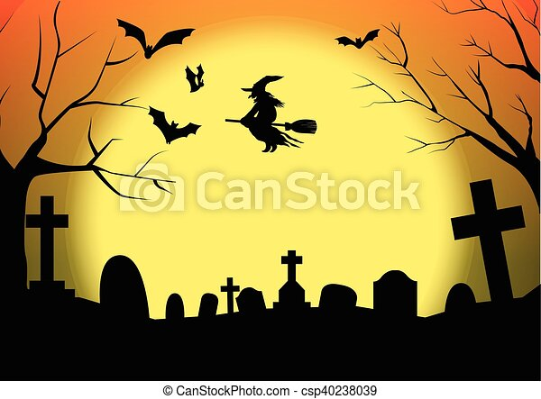 Halloween Silhouette Cimetière