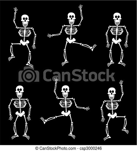 Halloween skeleton pattern. black background. Halloween... clip ...