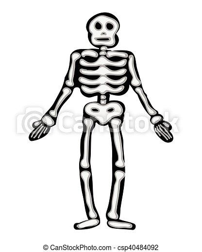 halloween skeleton vector symbol icon design beautiful illustration rh canstockphoto com skeleton vector art skeleton vector png