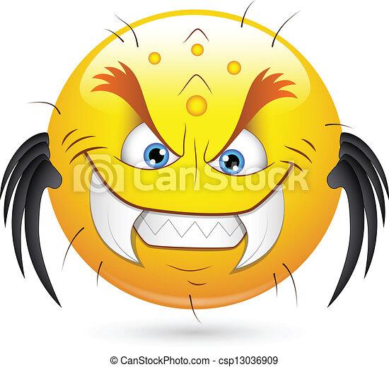 halloween smiley caract re monstre art monstre. Black Bedroom Furniture Sets. Home Design Ideas